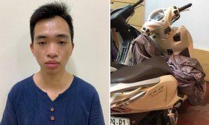 Nhân viên bảo vệ trộm xe máy rồi lại đi đầu thú vì hối hận